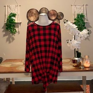 "Chic Soul ""Check The Forcast"" Buffalo Plaid top"